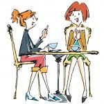 カフェ コーヒー ママ会 おしゃべり テラス