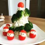 とっても簡単!クリスマスパーティっぽさを演出できる1品 「ポテトツリー&サンタ風小人」