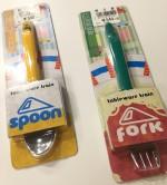 新幹線好きなキッズは喜んで食べてくれる!まるで新幹線のおもちゃのようなフォーク・スプーンはあの場所で売っています。
