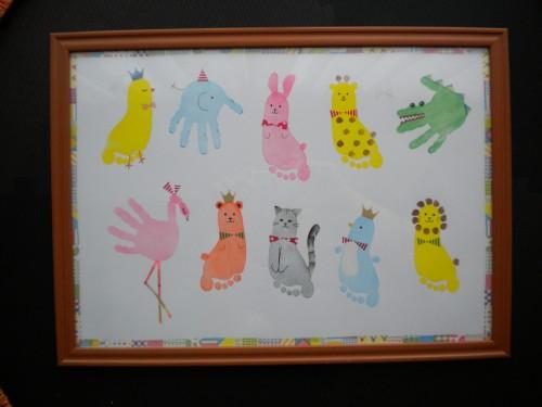 木村みな手形アート