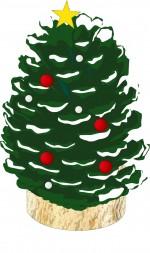 """ロクハ公園で季節を感じる""""はらっぱ工作""""しませんか?第一弾は「まつぼっくりクリスマスツリー」だよ♪参加費100円・事前申込不要!"""
