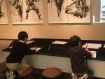 <12月13日まで>観るだけじゃない、描けて楽しい墨絵アート展を親子で楽しんできました♪
