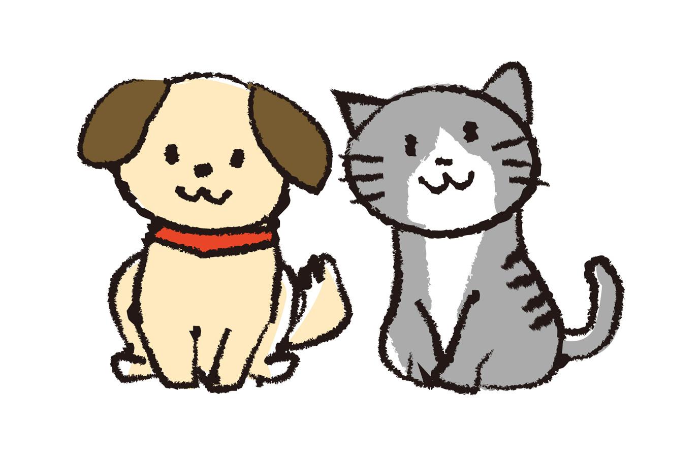 犬猫イラスト