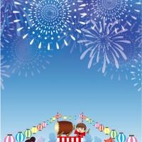 花火大会夏祭り盆踊り背景