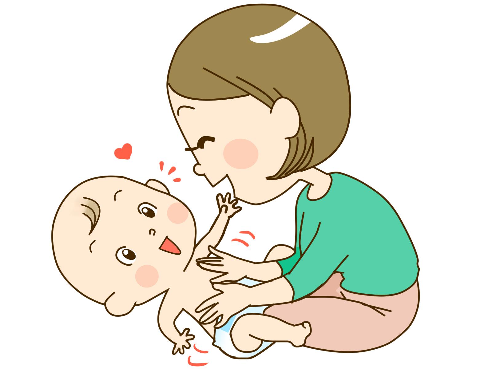 素材 ベビーマッサージ 赤ちゃん