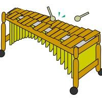 素材 マリンバ 木琴
