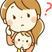 素材 ? 赤ちゃん 親子 母