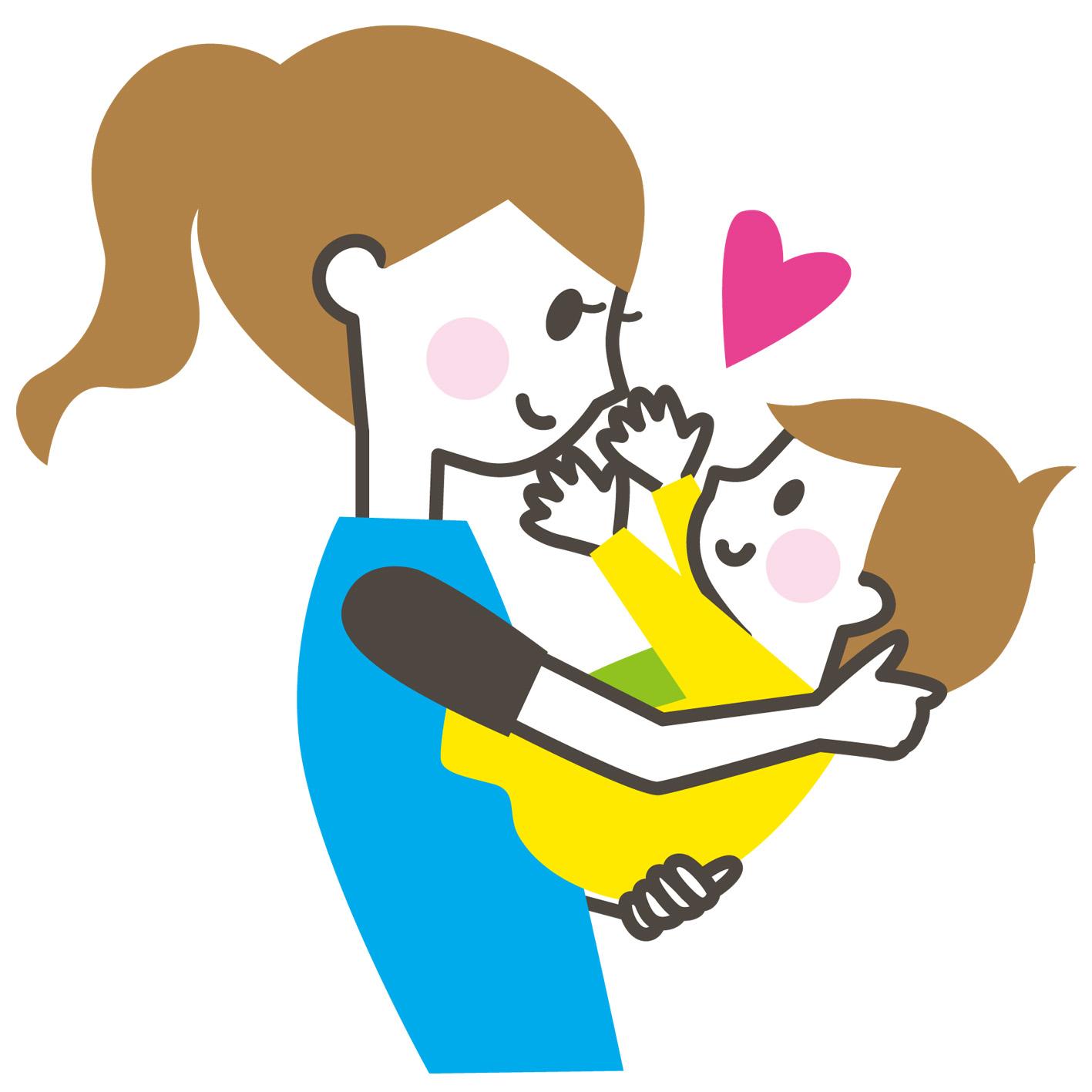 素材 赤ちゃんとママ