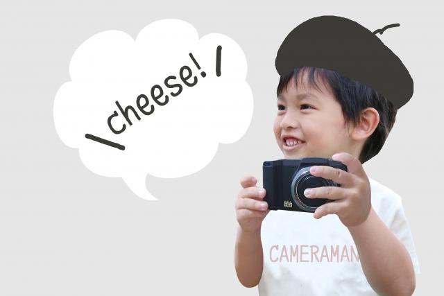 素材 子どもカメラマン