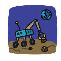 素材 探査ロボット 宇宙