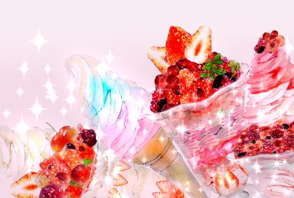 素材 苺パフェ
