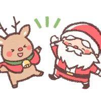 素材 サンタとトナカイ クリスマス