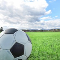 素材 サッカーボール