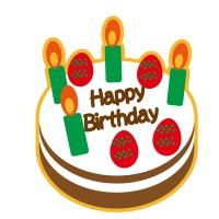 素材誕生日ケーキ