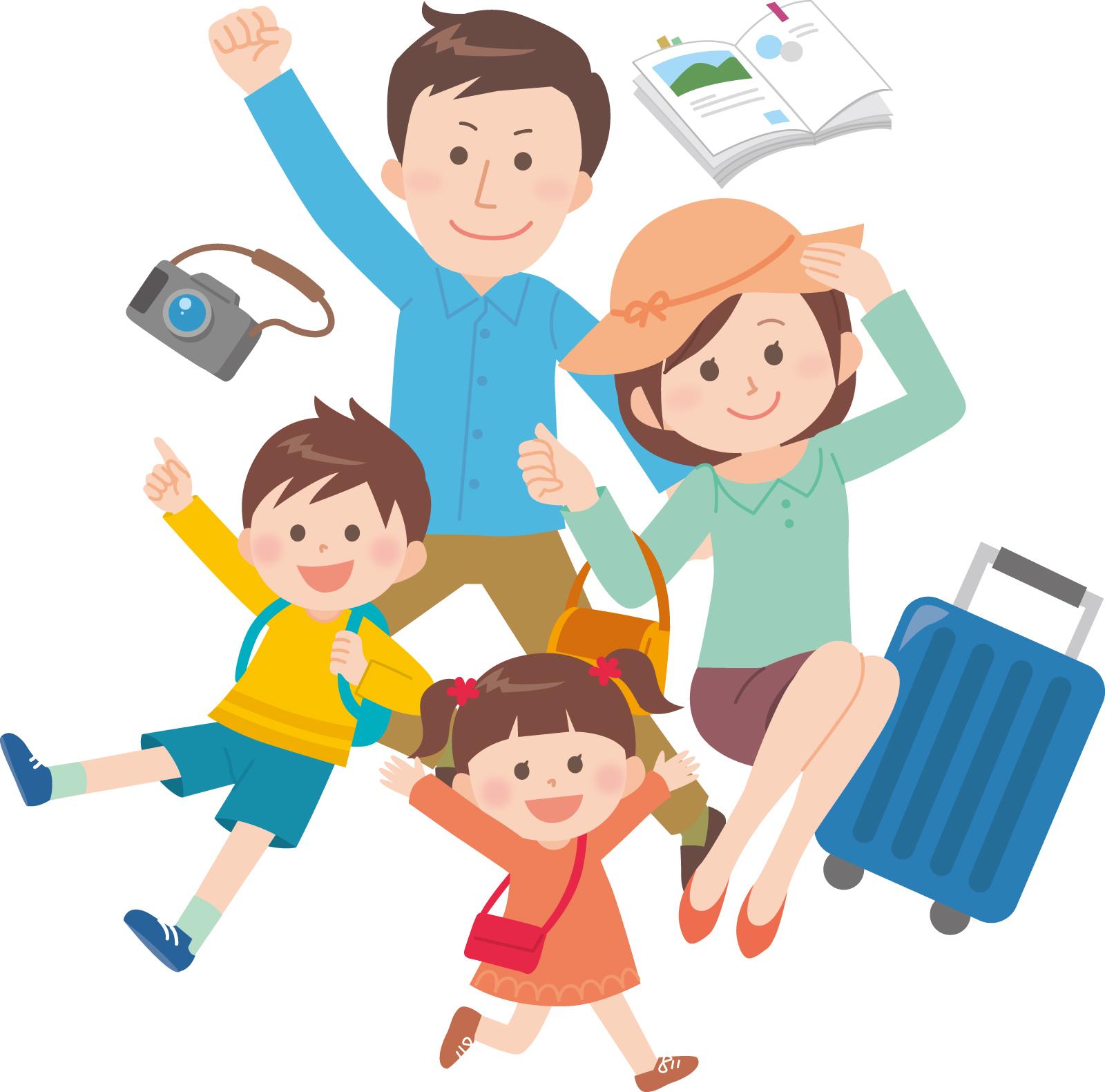 素材 家族旅行