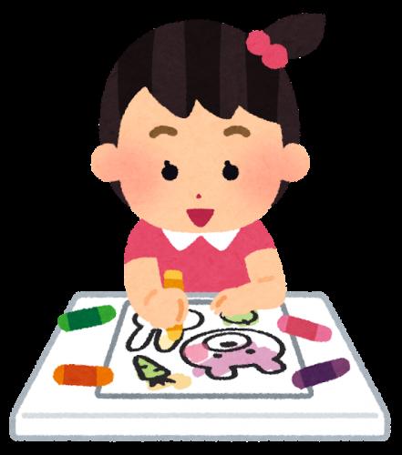 女の子に人気のアニメの映画公開記念ぬりえイベントが開催イオン