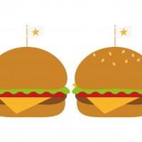 ハンバーガー 2個