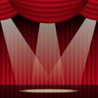 劇場 スポットライト 背景cs5