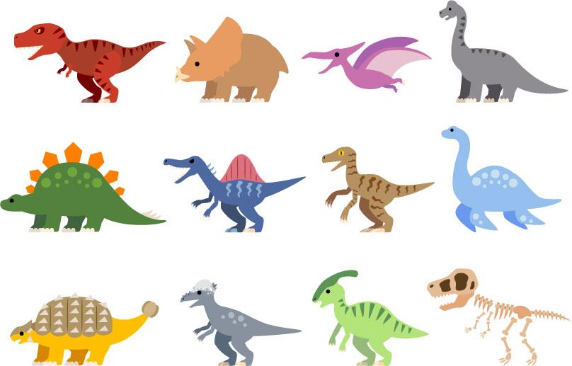 素材 恐竜