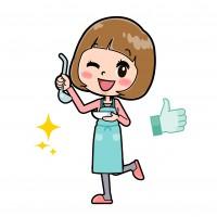 ピンク服若い女性 料理おいしい