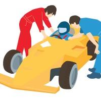 素材 レーシングカー レーサー 車