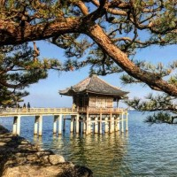 素材 浮御堂 堅田 琵琶湖