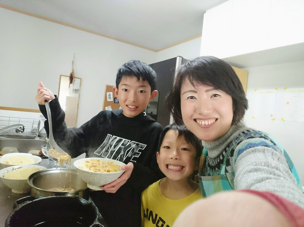 子どもたちと料理