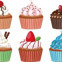 素材 カップケーキ