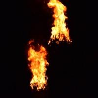 素材 たいまつ 炎