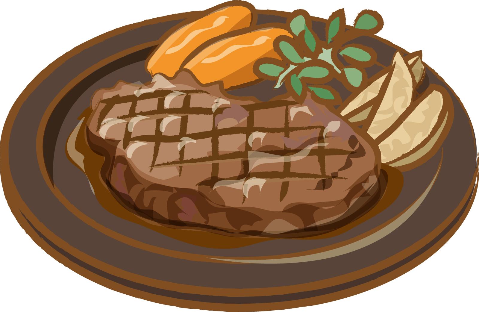 素材 ステーキ 肉 ファミレス 食べ物