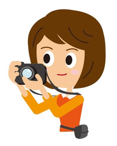 カメラをかまえる女性CS