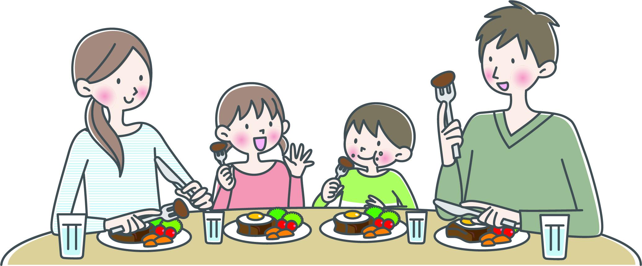 素材 家族 食事 ファミレス