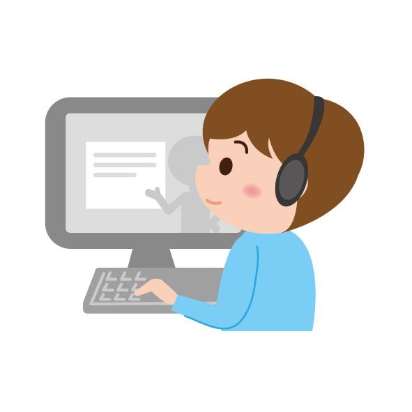 素材 パソコン オンライン授業 在宅授業