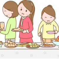 素材 バイキング 食べ放題 パーティー 食べ物 食事