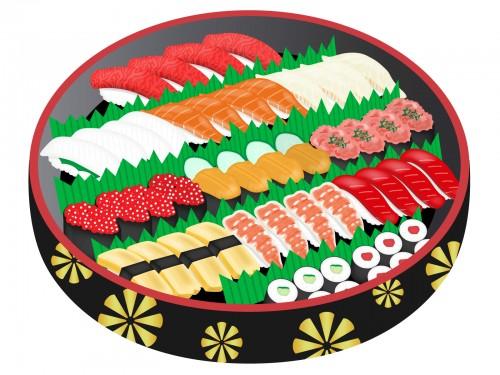 素材 寿司 持ち帰り 寿司桶 テイクアウト 食べ物 ごちそう