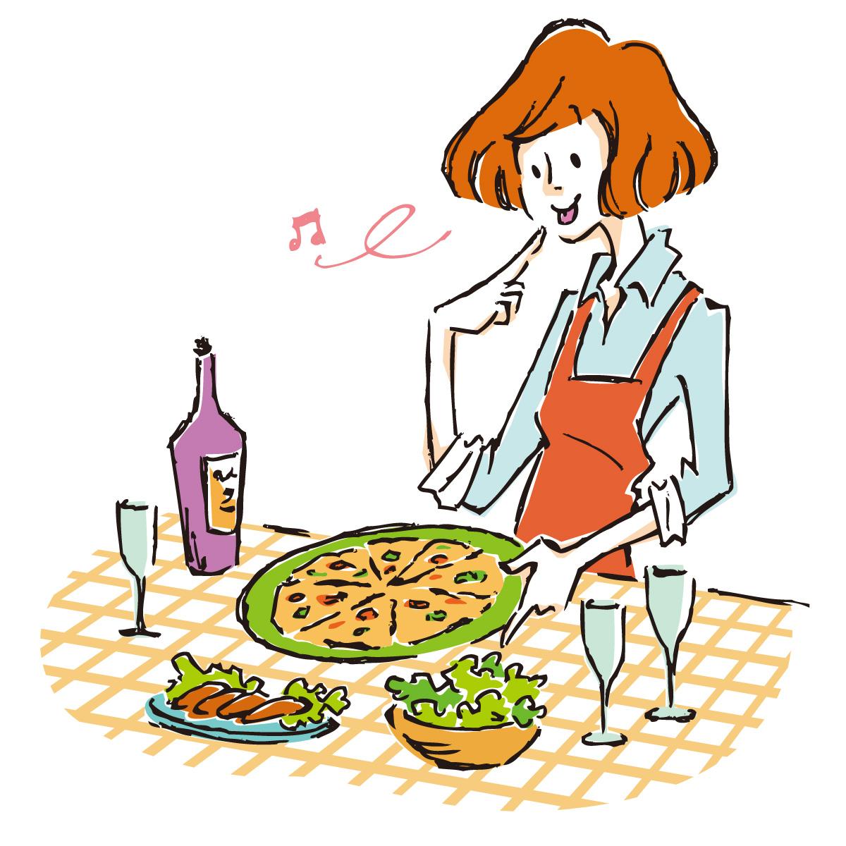 素材 イタリアン 料理 ごちそう ご飯 食べ物 サラダ