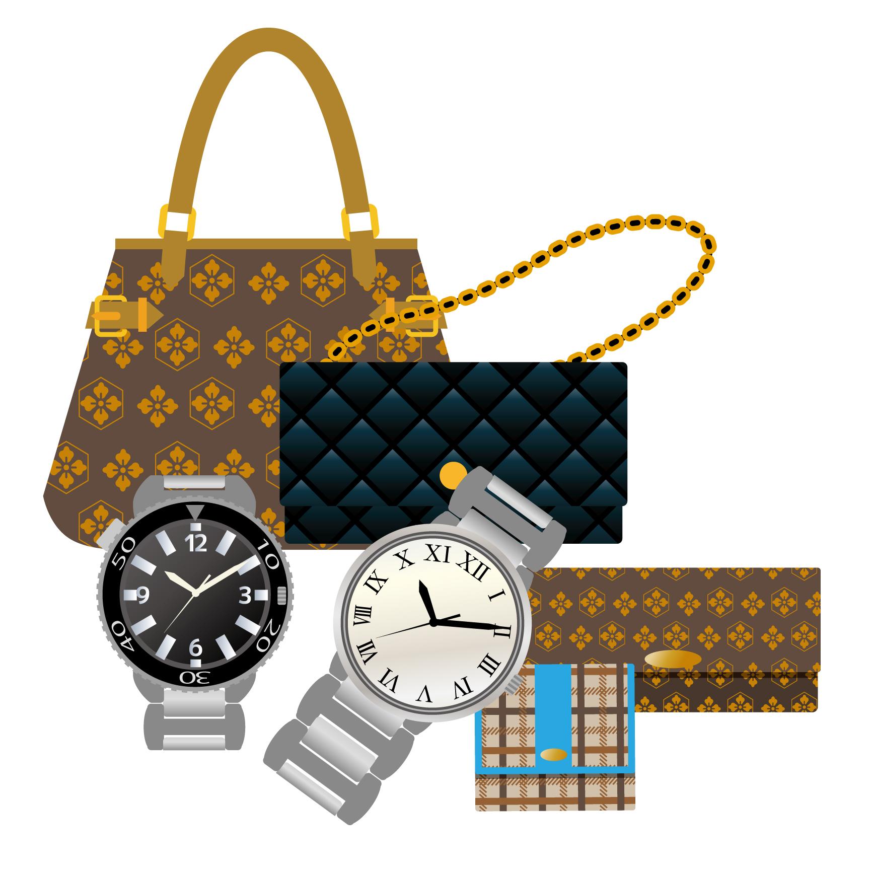 素材 ブランドバッグ 買い物 財布 時計 忘れ物 質