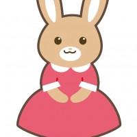 素材 シルバニア おもちゃ うさぎ 動物 服 ワンピース