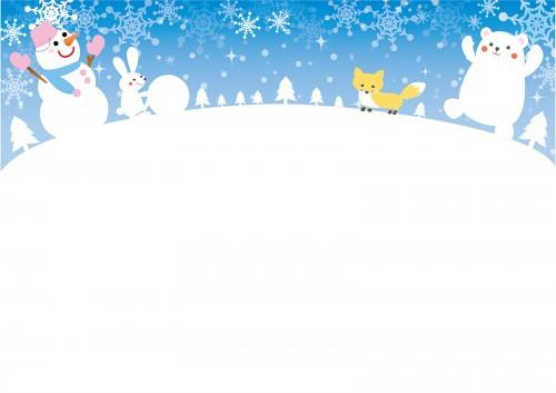 雪の降る風景と動物cs2