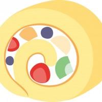 フルーツロールケーキ01-シンプル