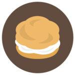 滋賀の食材をつかったシュークリームがとっても美味しそう!!他にもたくさんのスイーツを販売中~琵琶湖ホテル~
