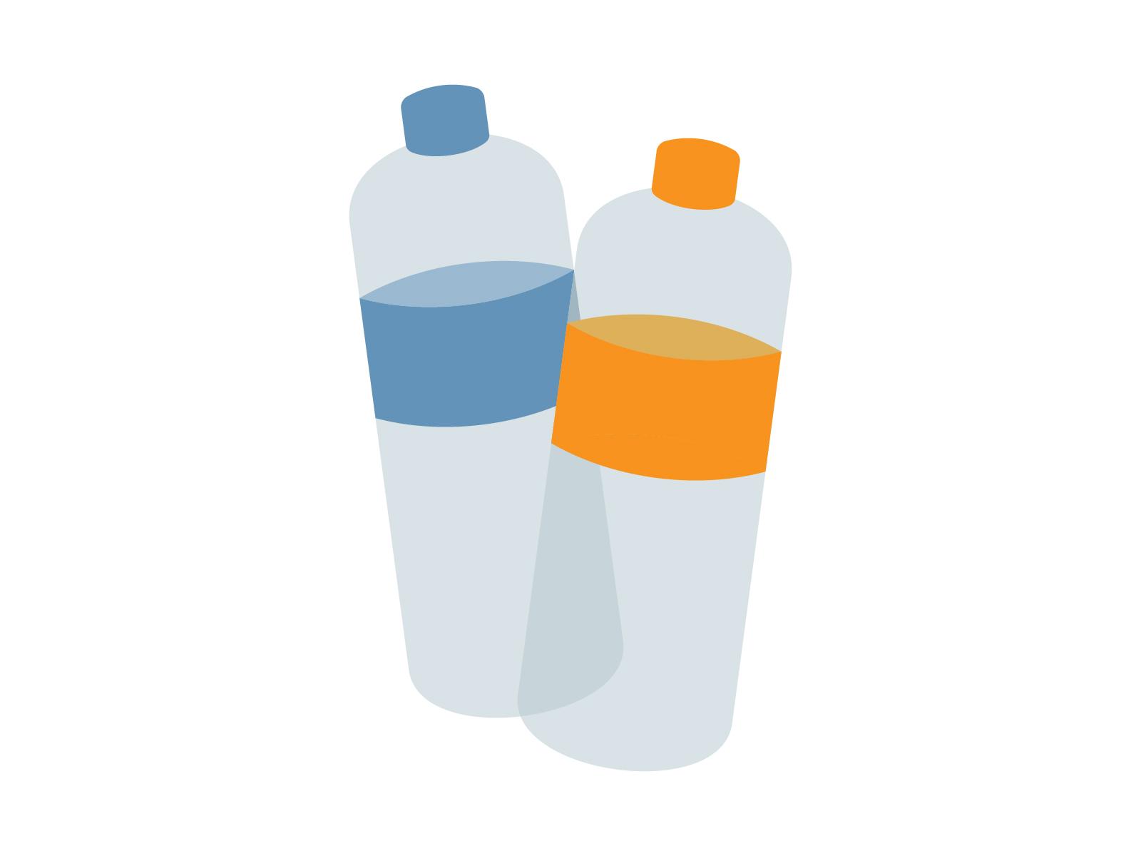 素材 ペットボトル 2本 水 茶 ジュース