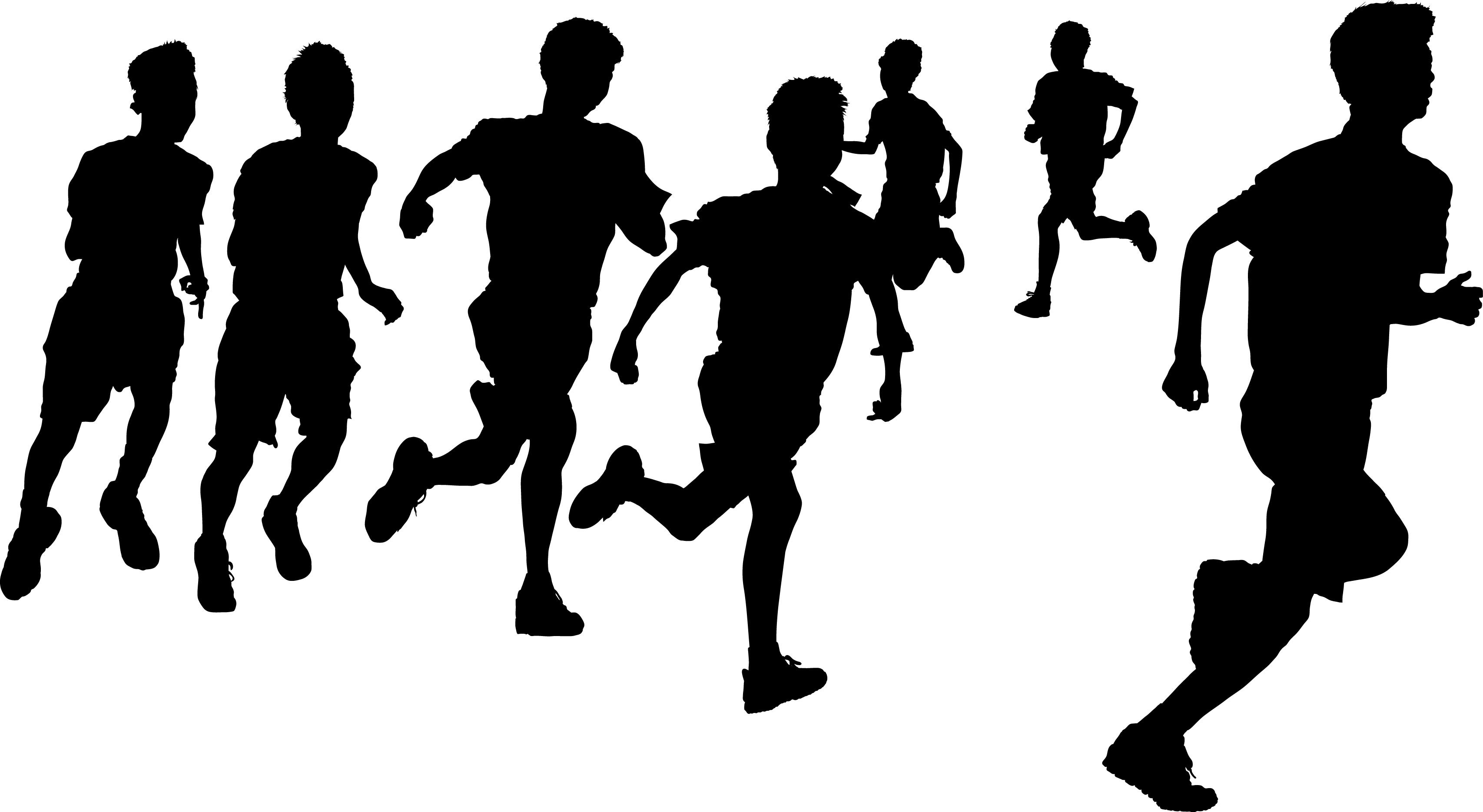 素材 マラソン 走る シルエット