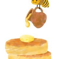 パンケーキ 食べ物 スイーツ おやつ はちみつ