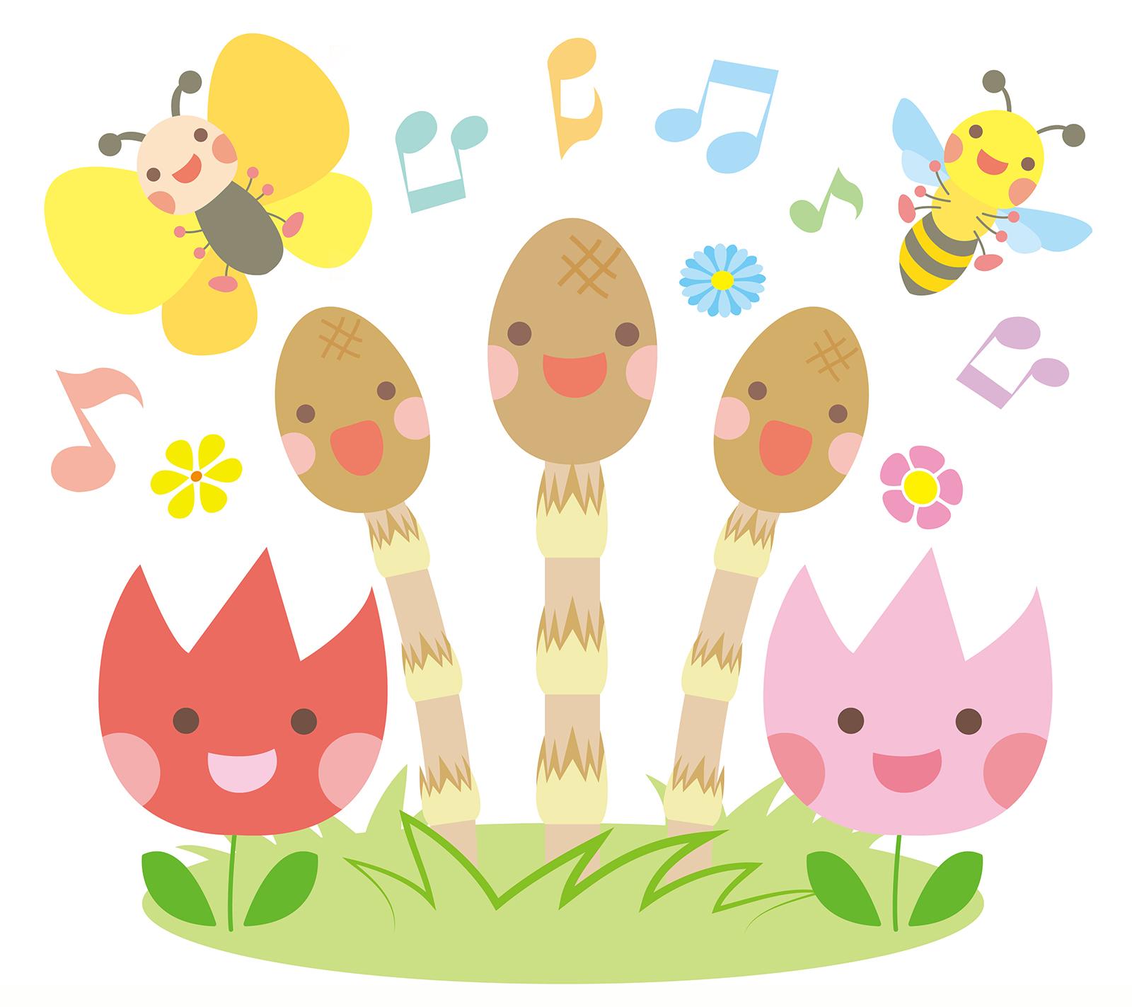 つくしと春の生き物と植物の合唱