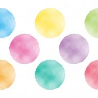 カラフル 丸 水玉 色 大福 和菓子