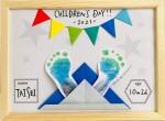 ★5/2(日)★『キットパスの足形スタンプ×折り紙カブト作り』世界に一つだけの作品♪イオン近江八幡ショッピングセンター
