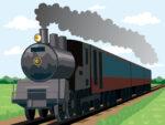 京都鉄道博物館にお喋りする水色の機関車のキャラクターがやってきました!原画展や特別なヘッドマークをつけたSLの運行など、ファンにはたまらない企画が目白押しですよ♪